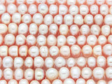 Light Pink Irregular Rondelle Pearl Beads 7mm (PRL193)