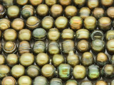 Olive Green Irregular Potato Pearl Beads 8-10mm (PRL198)