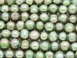 Light Green Potato Irregular Pearl Beads 8-10mm (PRL199)