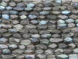 Labradorite Faceted Cylinder Gemstone Beads 7-12mm (GS4128)