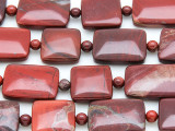 Brecciated Jasper Rectangular Tabular Gemstone Beads 15-30mm (GS4135)