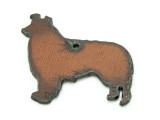 Collie - Rustic Iron Pendant (IR187)