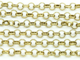 "Brass Plated Iron Rolo Chain 6mm - 36""  (CHAIN88)"