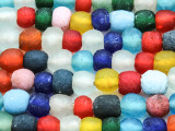 Multi-Color Recycled Glass Beads  5-10mm - Africa (RG608)
