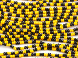 Black & Yellow Glass Seed Beads 2mm - Ghana (AT7200)