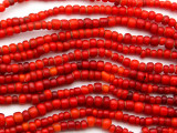 Old Red White Heart Beads 3-6mm (AT7203)