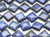 Lapis Lazuli Faceted Diamond Tabular Gemstone Beads 15mm (GS4226)