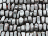 Silver Electroplated Hematite Nugget Gemstone Beads 8-12mm (GS4246)