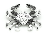 Crab - Pewter Pendant 60mm (PW898)