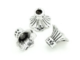 Pewter Flower Cap 13mm (PB813)