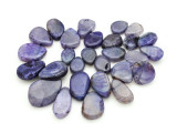 Purple Agate Slab Gemstone Beads 21-41mm (AS946)