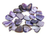 Purple Agate Slab Gemstone Beads 30-48mm (AS948)