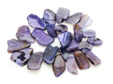 Purple Agate Slab Gemstone Beads 30-51mm (AS950)