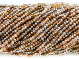 Bronze & Amber Crystal Glass Beads 2-3mm (CRY287)