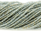 Pale Blue & Gold Crystal Glass Beads 2mm (CRY294)
