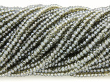 Green Gray Crystal Glass Beads 2mm (CRY300)