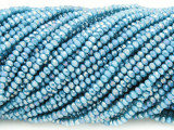Metallic Blue Crystal Glass Beads 2mm (CRY308)