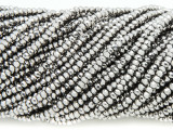 Silver Crystal Glass Beads 2mm (CRY311)