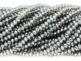 Smoky Gray Crystal Glass Beads 4mm (CRY324)
