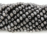 Black Crystal Glass Beads 6mm (CRY362)
