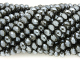 Charcoal Gray Crystal Glass Beads 6mm (CRY364)