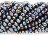 Purple Jeweltone Crystal Glass Beads 6mm (CRY366)
