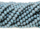 Matte Slate Blue Crystal Glass Beads 6mm (CRY378)