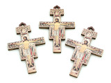 Ornate Wood San Damiano Cross Pendant - 89mm (SF24)