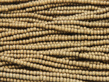 Brass Electroplated Hematite Faceted Rondelle Gemstone Beads 3mm (GS4251)