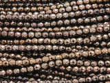 Bronze Electroplated Hematite Faceted Irregular Round Gemstone Beads 4mm (GS4259)