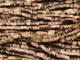 Copper & Bronze Electroplated Hematite Square Heishi Gemstone Beads 3mm (GS4261)