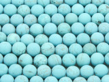 Matte Turquoise Magnesite Round Gemstone Beads 8mm (GS4281)
