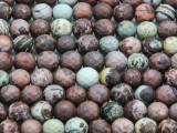 Leopardskin Jasper Faceted Round Gemstone Beads 8mm (GS4290)