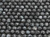 Black Labradorite Faceted Round Gemstone Beads 8mm (GS4307)