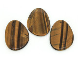 Tiger Eye Irregular Teardrop Gemstone Pendant 61mm (GSP1716)