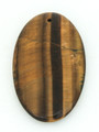 Tiger Eye Oval Gemstone Pendant 60mm (GSP1720)
