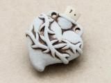 Heart w/Thorns Ceramic Cork Bottle Pendant 36mm (AP1917)