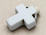 Cross Ceramic Cork Bottle Pendant 42mm (AP1918)