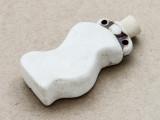 Wavy Vase Ceramic Cork Bottle Pendant 48mm (AP1919)