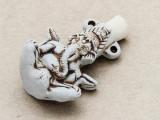 Ganesha Ceramic Cork Bottle Pendant 40mm (AP1921)