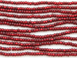 Dark Red Silver Line Glass Seed Beads - 8/0 (SB119)