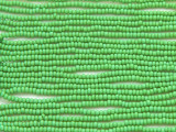 Medium Green Glass Seed Beads - 11/0 (SB158)