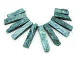 Teal Quartz Gemstone Pendants - Set of 11 (GSP1776)