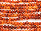 Genuine Amber Round Beads 4mm (AB77)