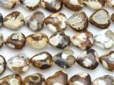 Agate Triangle Tabular Gemstone Beads 13mm (GS4390)