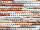 Moonstone Round Gemstone Beads 2-3mm (GS4397)