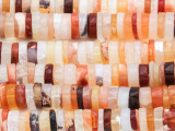 Fire Opal Heishi Gemstone Beads 8-9mm (GS4412)