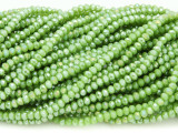 Lime Green Crystal Glass Beads 2mm (CRY424)