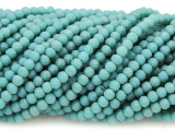 Matte Turquoise Crystal Glass Beads 4mm (CRY435)