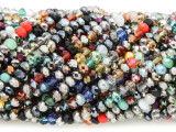 Assorted Crystal Glass Beads 2-4mm (CRY441)